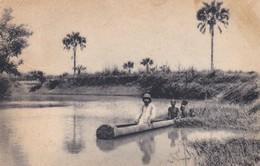 CARTOLINA - POSTCARD - SUDAN - IL MISSIONARIO VIAGGIA CON OGNI MEZZO ANCHE IN PIROGA. - Sudan