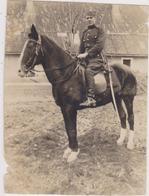 SERBIA , KINGDOM OF YUGOSLAVIA   -- SERBIAN ARMY  --   OFFICER, SABEL, HORSE  --  ORIGINAL PHOTO   9,7 Cm X 7,3 Cm - Militaria