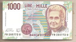 """Italia - Banconota Non Circolata FdS Da 1000 Lire """"Montessori P-114a.2 - 1991 - [ 2] 1946-… : République"""