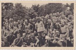 SERBIA , KINGDOM OF YUGOSLAVIA   -- SERBIAN ARMY  --   OFFICER,  SOLDATEN  --  ORIGINAL PHOTO     PC FORMAT - Militaria