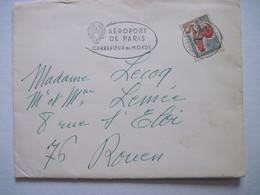 1966 Flamme AEROPORT DE PARIS CARREFOUR DU MONDE - Marcophilie (Lettres)