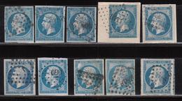 1854 YVERT Nº 14A , 14B - 1853-1860 Napoléon III