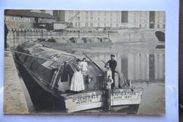 Carte-photo-Cie GENERALE De NAVIGATION Mars 1897-REGRETS(nom Du Bateau??) - Péniches