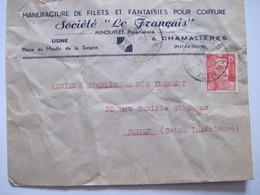 """1949 Société """"LE FRANCAIS""""  à CHAMALIERES - Marcophilie (Lettres)"""