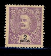 ! ! Portuguese India - 1898 D. Carlos 2 Rp - Af. 165 - No Gum - India Portoghese