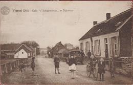 Viersel-Dijk - Café 't Schippershuis En Dijkstraat Zandhoven (kreukje) - Zandhoven