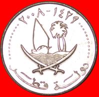 √ SHIP: QATAR ★ 50 DIRHAMS 1429-2008 MINT LUSTER! LOW START ★ NO RESERVE! - Qatar