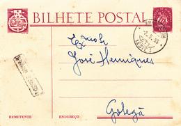 Portugal -Bilhete Postal -Aviso De Chegada - Santarem