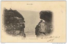 Cpa..88..SAINT DIE..ROCHES DE LA PIERRE DE LAITRE - Saint Die