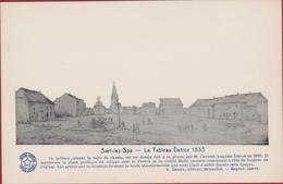 Sart-lez-Spa La Place Du Marché En 1833 ( Dessin A. Detroz ) Jalhay Les - Jalhay