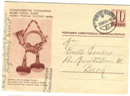 1943 Flüchtlingslager Geisshubelbad Stempel Auf Postkarte 10r Schweiz. Postmuseum - Ganzsachen