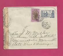 Lettre De Madagascar Pour Les EUAN De 1940- YT N° 168 Et 208 -Exposition Internationale De New York - Lettres & Documents