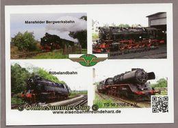 (DH8)  BRD - AK : Karte Der Eisenbahnfreundeharz / Dampfloks - Eisenbahnen