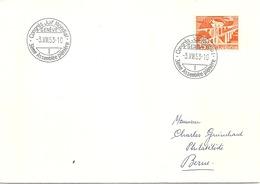"""Sonderstempel  """"Congrès Juif Mondial, Genève""""          1953 - Covers & Documents"""