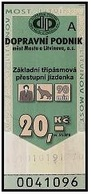 Czech Republic - Most A Litvinov; 2002 - 20 Kč, Used - Europe