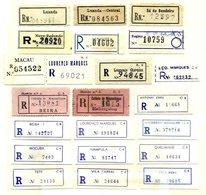 PORTUGUESE COLONIES, Registration Labels - Postmark Collection
