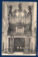 59. Bourbourg. Intérieur De L'église St. Jean-Baptiste. Les Orgues. Franchise S.M. Gendarme Belge à Looberghe. 1914-18 - Autres Communes