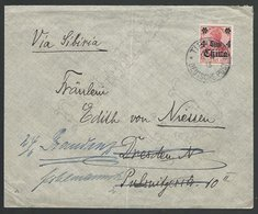 CHINA GERMAN PO 1913 Cover 4c Opt TIENTSIN To Germany......................11095 - China