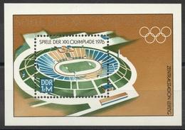 Allemagne - DDR - Bloc-Feuillet N° 41 Neuf ** - 21e Jeux Olympiques De Monréal - Stade De Leipzig - Blocks & Kleinbögen