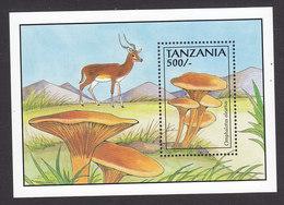 Tanzania, Scott #1016, Mint Never Hinged, Mushrooms, Issued 1993 - Tanzania (1964-...)