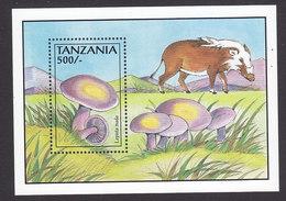 Tanzania, Scott #1017, Mint Never Hinged, Mushrooms, Issued 1993 - Tanzania (1964-...)