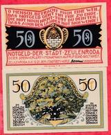 Allemagne 1 Notgeld 50 Pfenning  Stadt Zeulenroda UNC Lot N °314 - [ 3] 1918-1933 : République De Weimar