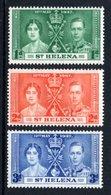 SAINT HELENA 1937 Coronation: Set Of 3 Stamps UM/MNH - Saint Helena Island