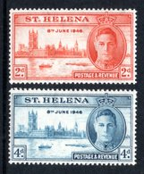 SAINT HELENA 1946 Victory: Set Of 2 Stamps UM/MNH - Saint Helena Island
