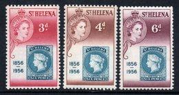 SAINT HELENA 1956 St Helena Stamp Centenary: Set Of 3 Stamps UM/MNH - Saint Helena Island