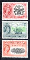 SAINT HELENA 1959 Tercentenary Of Settlement: Set Of 3 Stamps UM/MNH - Saint Helena Island
