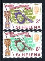 SAINT HELENA 1966 World Cup Football Championship: Set Of 2 Stamps UM/MNH - Saint Helena Island