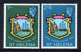 SAINT HELENA 1967 New Constitution: Set Of 2 Stamps UM/MNH - Saint Helena Island