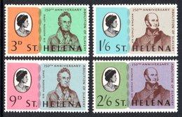 SAINT HELENA 1968 150th Anniversary Of The Abolition Of Slavery: Set Of 4 Stamps UM/MNH - Saint Helena Island