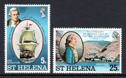 SAINT HELENA 1975 Bicentenary Of Captain Cook's Return To St Helena: Set Of 2 Stamps UM/MNH - Saint Helena Island