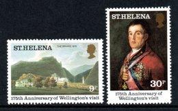 SAINT HELENA 1980 175th Anniversary Of Wellington's Visit: Set Of 2 Stamps UM/MNH - Saint Helena Island
