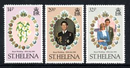 SAINT HELENA 1981 Royal Wedding: Set Of 3 Stamps UM/MNH - Saint Helena Island