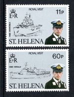 SAINT HELENA 1984 Visit Of Prince Andrew: Set Of 2 Stamps UM/MNH - Saint Helena Island
