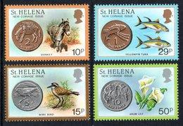 SAINT HELENA 1984 New Coinage: Set Of 4 Stamps UM/MNH - Saint Helena Island