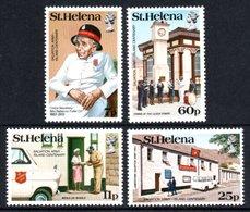 SAINT HELENA 1984 Centenary Of The Salvation Army On St Helena: Set Of 4 Stamps UM/MNH - Saint Helena Island
