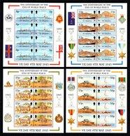 SAINT HELENA 1995 50th Anniversary Of End Of Second World War: Set Of 4 Sheets UM/MNH - Saint Helena Island