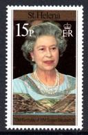 SAINT HELENA 1996 70th Birthday Of Queen Elizabeth II 15p: Single Stamp UM/MNH - Saint Helena Island