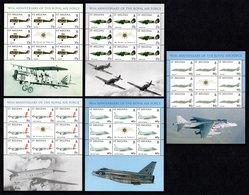 SAINT HELENA 2008 90th Anniversary Of The RAF: Set Of 5 Sheets UM/MNH - Saint Helena Island