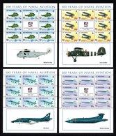 SAINT HELENA 2009 Centenary Of Naval Aviation: Set Of 4 Sheets UM/MNH - Saint Helena Island
