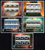 SAINT HELENA 2009 Space Exploration/40th Anniversary Of First Moon Landing: Set Of 5 Sheets UM/MNH - Saint Helena Island