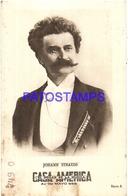 91018 PUBLICTY COMMERCIAL CASA AMERICA MUSICA BS AS ARTIST JOHANN STRAUSS COMPOSER VALS NO POSTAL POSTCARD - Pubblicitari