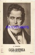 91021 PUBLICTY COMMERCIAL CASA AMERICA EL HOGAR DE LA MUSICA BS AS ARTIST G. SPONTINI COMPOSER OPERA NO POSTCARD - Werbepostkarten