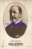 91022 PUBLICTY COMMERCIAL CASA AMERICA MUSICA BS AS ARTIST CAMILLE SAINT - SAENS COMPOSER PIANIST NO POSTAL POSTCARD - Pubblicitari