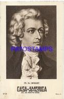 91024 PUBLICTY COMMERCIAL CASA AMERICA EL HOGAR DE LA MUSICA BS AS ARTIST W. A. MOZART COMPOSER PIANIST NO POSTCARD - Pubblicitari