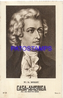 91024 PUBLICTY COMMERCIAL CASA AMERICA EL HOGAR DE LA MUSICA BS AS ARTIST W. A. MOZART COMPOSER PIANIST NO POSTCARD - Werbepostkarten