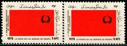 AFH281 Afghanistan 1979 Establishes Pro-Soviet Flag 2V  MNH - Afghanistan